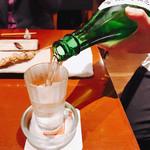 鶏繁 - オォψ(`∇´)ψ相当楽しかったのか日本酒いったのね