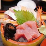 タカマル鮮魚店 - タカマル定食 刺身