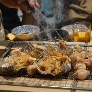 ◆◇BBQ感覚の長テーブルで鶏焼肉◇◆