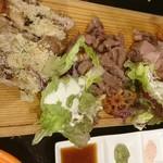 肉バル パライソ - 大阿蘇鳥 グリル、 肩ロース、 黒豚ロース