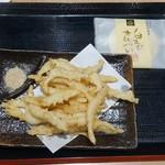 99451789 - きときとセット1200円 白えびの天ぷら・生ビール