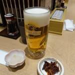 99451792 - きときとセット1200円 白えびの天ぷら・生ビール