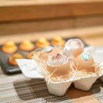 SUGALABO - マドレーヌ 土佐ジローの卵黄のチョコクリーム、コーヒーの泡