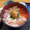 かにや - 料理写真:五色丼(うに、かに、イクラ、時しらず、帆立)