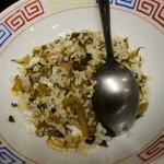 ラーメン 八卦 - セットの高菜炒飯