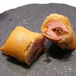 MASA'S KITCHEN - 燻製鴨の春巻 北京ダック風味 トリュフ塩で