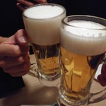 99459723 - 飲み放題の生ビールでかんぱ~い