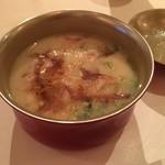 石塀小路 朝粥と出し茶漬け KOI-KOI - 白味噌仕立て雑煮 餅