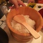 石塀小路 朝粥と出し茶漬け KOI-KOI - ご飯は2人前
