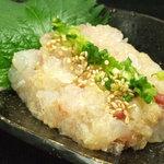 たか濱 - 料理写真:本日のなめろう 500円(税込540円)  入荷した旬魚を使用した「なめろう」は日本酒に良く合います。