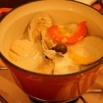 99462939 - 貝のクリーム鍋日本酒風味(後にリゾット)