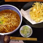 生そばあずま - かき揚げ蕎麦 (麺2玉)750円