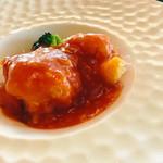 中国料理 翆陽 - 海老のチリソース   これがレア感を感じながら、めちゃくちゃ美味しい❤️