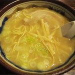 小麦の木 - あぶらラーメン(塩)(750円)
