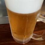 まる麺 - ドリンク写真:生ビール 500円
