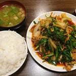阿Q - 料理写真:肉ニラ炒め定食 1000円
