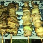 たぬき - 焼き鳥 鶏皮串2本 ねぎ間串2本