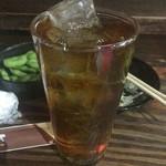 たぬき - ウーロン茶