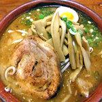 麺屋 一本気 - みそらー麺・めんま(大盛)(2011年10月)
