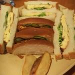 金シャチ珈琲店 - ふわふわ玉子サンド