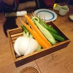 99483108 - お通しの生野菜。