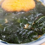 加賀 - 熱々の野菜コロッケ+わかめそば