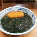 加賀 - 野菜コロッケ、わかめそば全景