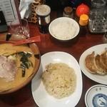 99490067 - 味噌ラーメン、半炒飯、餃子