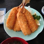 の一食堂 - 2019年1月 アジフライ定食 1350円