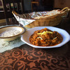 アジアン食堂サキーナ - 料理写真:食事はカレー・ロティ・ライタのセット