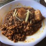 アジアン食堂サキーナ - おかわりでもらったカレー。最初と同じぐらいの量を盛ってくれました。