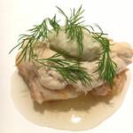 99503119 - 魚料理:天然平目、白子、湯葉 平目がしっとり。白子と湯葉とろとろ感がいい。煮切りで仕上げているそうです。