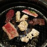仙台苑 - 焼く様子2