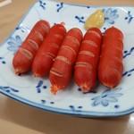 冨月 - 赤ウインナー250円