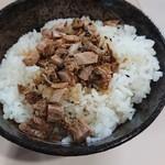 ラーメン 菅家 - チャーシュー丼