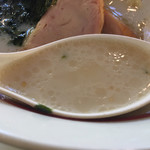 幸楽苑 - 鶏白湯スープ
