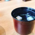 心斎橋 鮨 おか崎 - お吸い物