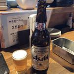 小だるま総本家 - 瓶ビール(大瓶) アサヒスーパードライ♪