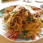 プリムローズ - 自家製ベーコンといろいろ茸 自家栽培椎茸のデュクセルソース