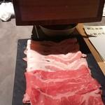 99516768 - 最初の肉 鍋が写ってない、、、