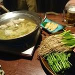 全席個室 三陸海鮮 牛たん 青葉の蔵 - 極み出汁の鴨せり鍋