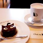 シャノワール - 黒猫のケーキ「シャノワール」とホットミルクを♪
