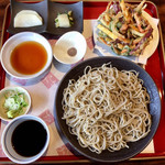99527030 - 「かき揚げ蕎麦のミニコース」②「かき揚げ」③もりそば(十割蕎麦に変更)
