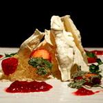 イタリアンレストラン ピーノ - クリームチーズとヨーグルトのセミフレッド