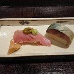 いはら田 - にぎり寿司はシビ鮪、鯖寿司