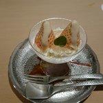 いはら田 - イチゴは博多の淡雪、マスカルポーネ、白ワインのジュレ、自家製練乳