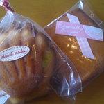お菓子のボンヌ  - マドレーヌとフィナンシェ各120円
