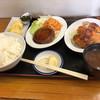 Kyoutodarumayashokudou - 料理写真:ハンバーグ、チキンカツ、だし巻き三点定食