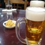 99534564 - セットの生ビールと豆もやし。