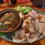 モンタナ - 「ローストポークカリーつけ麺」1,180円+「追い肉」300円